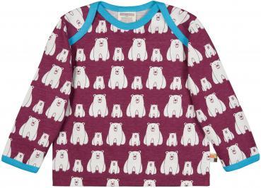 Loud & Proud Shirt Langarm Plum mit Eisbären