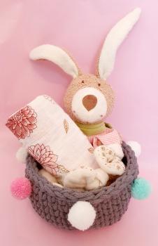 Osterkörbli Baby Rosa