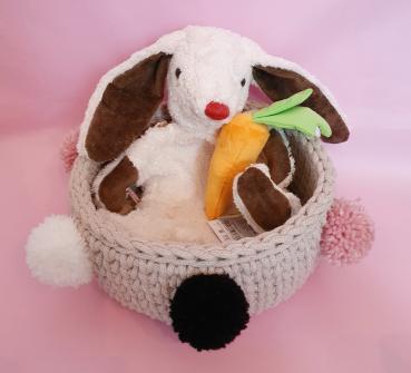 Osterkörbli Weisser Hase