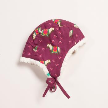 Hut mit Baumwollfleece von Little Green Radicals - Nordisches Pferd
