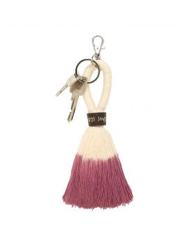 Schlüsselanhänger von mara mea in Pink-Weiss - sugar brush