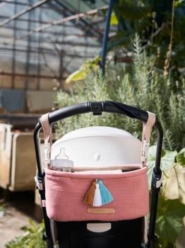 Kinderwagen- und Buggy- Organizer von mara mea in blush (Rosa) - malay apple